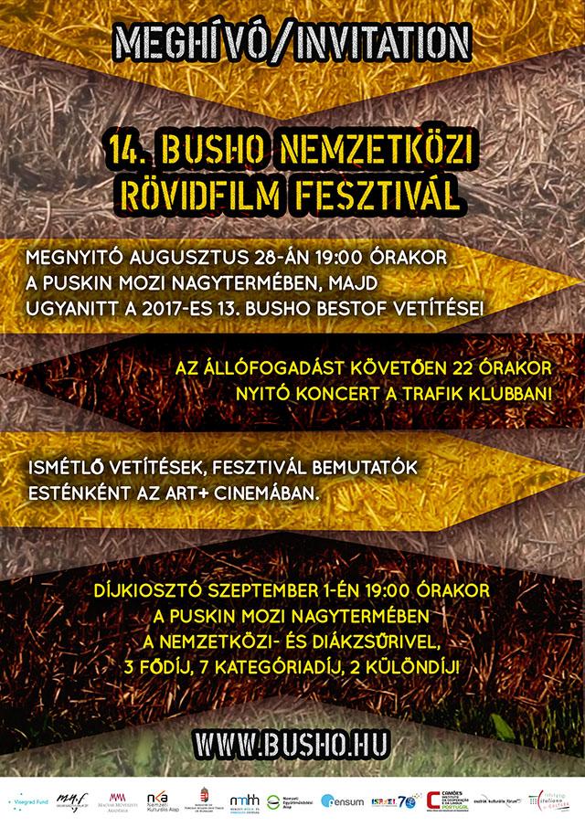 08fd97f1b90d Meghívó - 14. BuSho Nemzetközi Filmfesztivál
